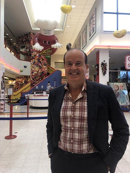 Michael Cárdenas inside Jelly Belly Factory